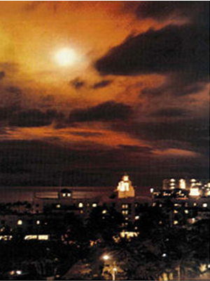 Starfish Prime - Honolulu night sky